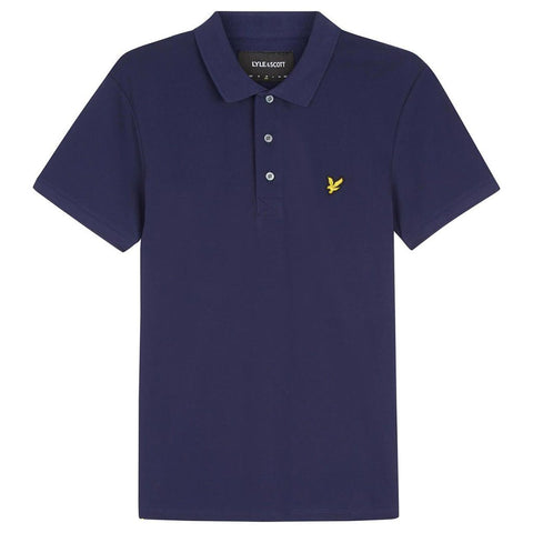 Lyle & Scott Slim Stretch Polo Shirt in Navy Polo Shirts Lyle & Scott
