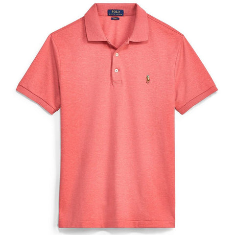 Ralph Lauren Slim Fit Soft Touch Polo Shirt in Orange Heather Polo Shirts Ralph Lauren