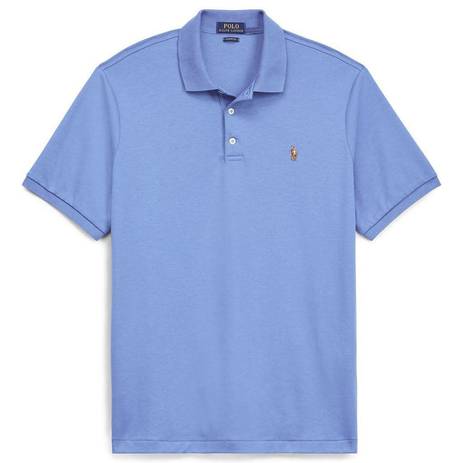 Ralph Lauren Slim Fit Soft Touch Polo Shirt in Sky Blue