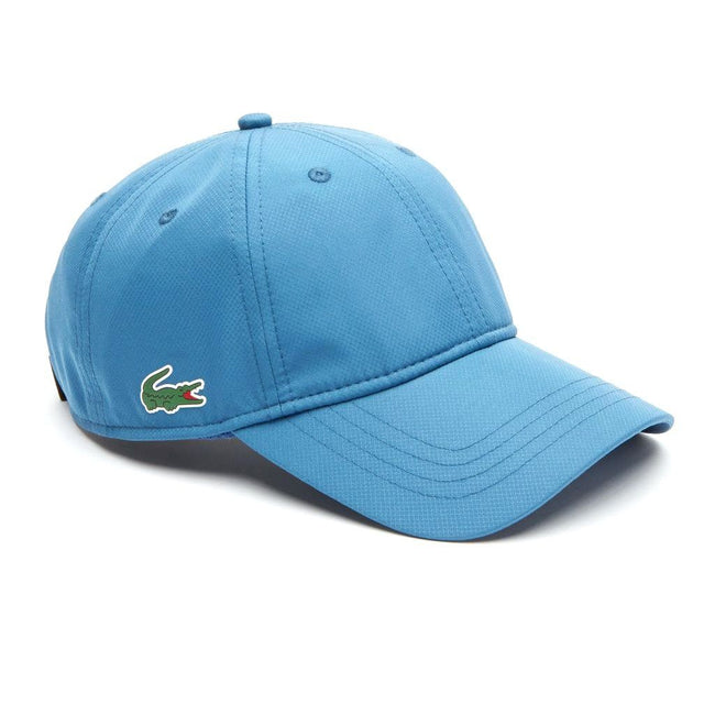 Lacoste RK2447-ADO Sport Cap in Solid Diamond Weave Taffeta in Blue