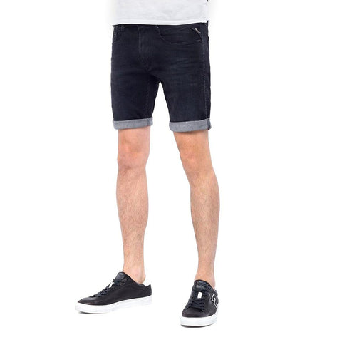 Replay Stretch Denim Shorts in Black Shorts Replay