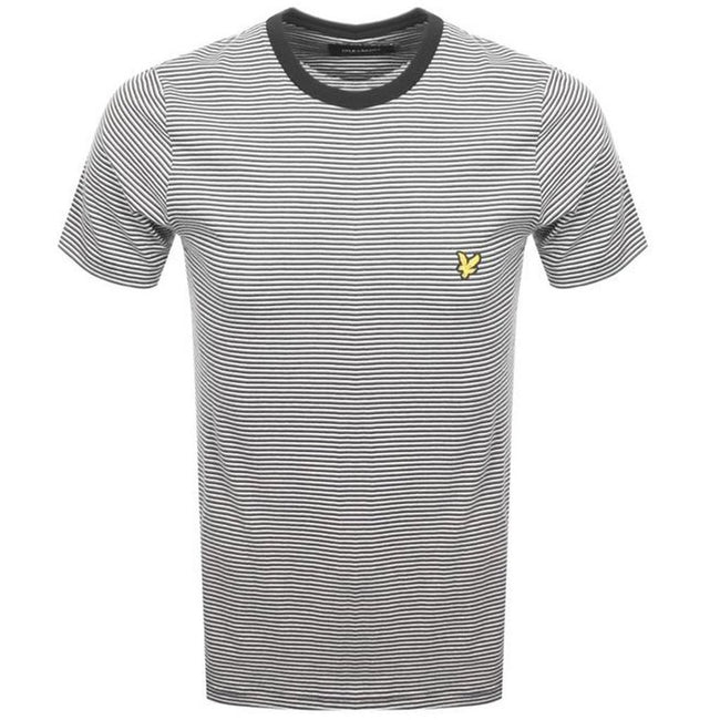 Lyle & Scott Feeder Stripe T-Shirt in Black