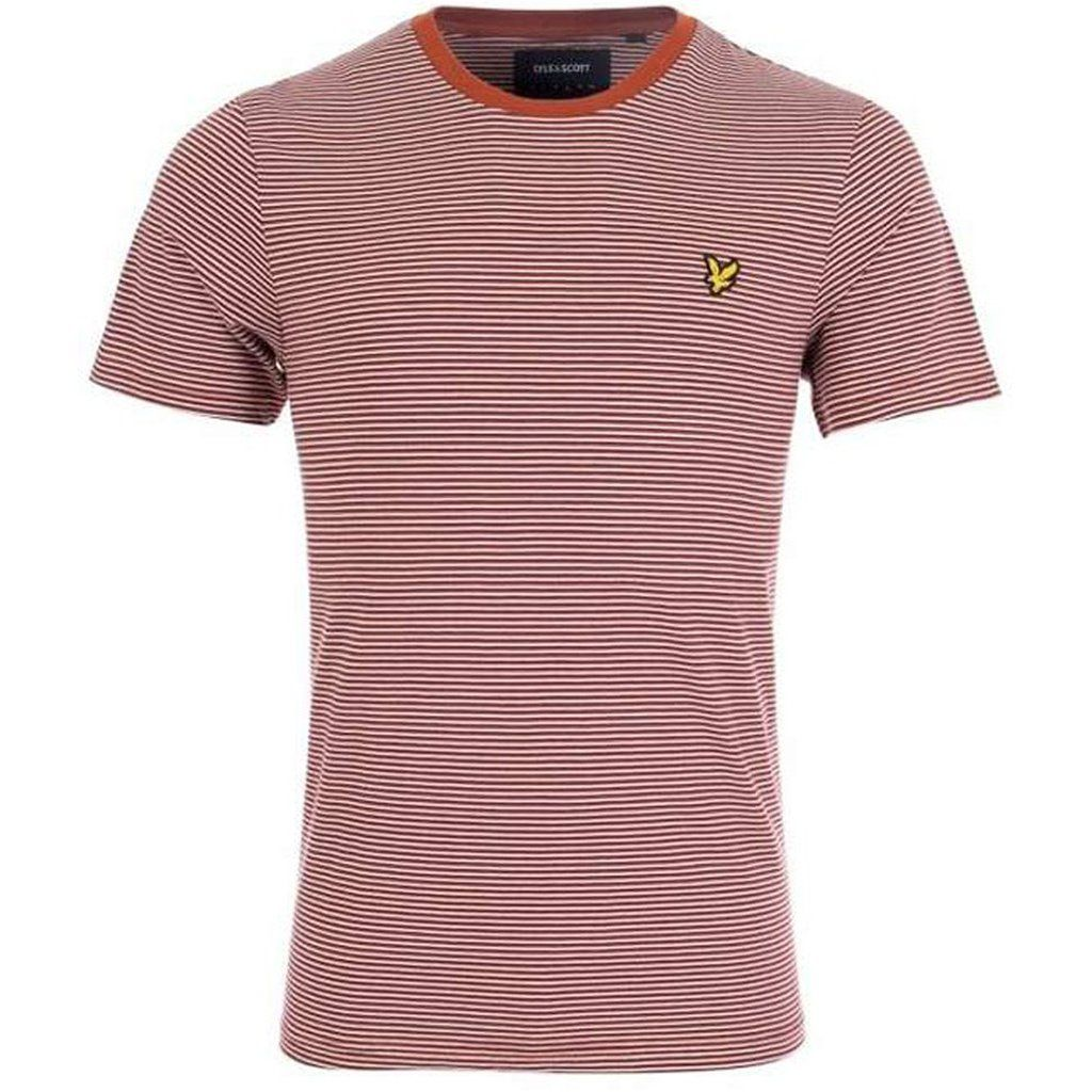Lyle & Scott Feeder Stripe T-Shirt in Brown Spice