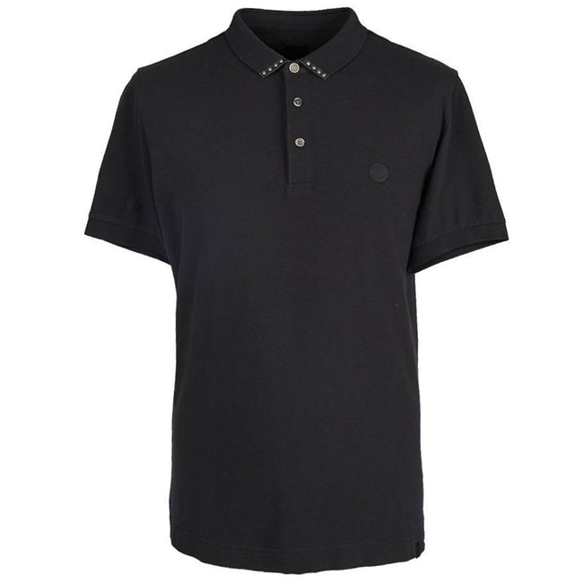 Pretty Green Stud Detail Polo in Black