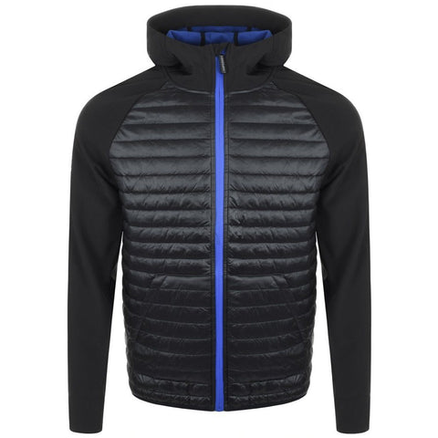Superdry Mountaineer Softshell Hybrid Jacket in Black / Cobalt Blue Coats & Jackets Superdry