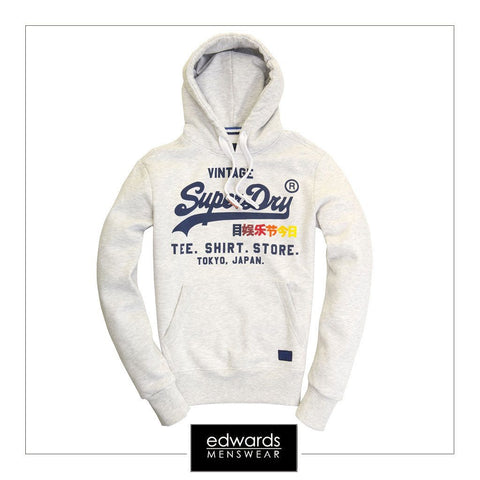 Superdry Sweat Shirt Shop Surf Hood in Ice Marl