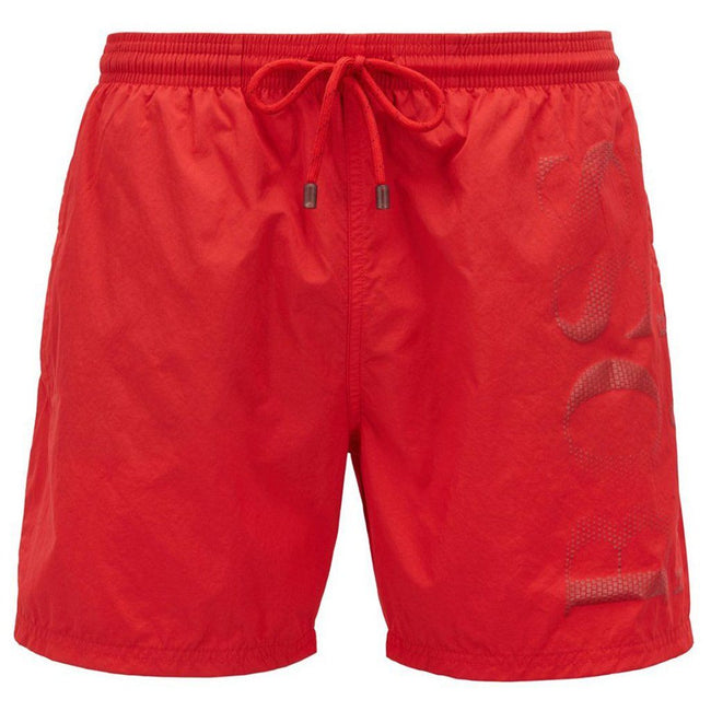 BOSS Bodywear Logo Print Swimshorts in Red
