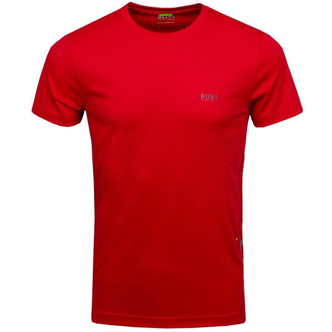 BOSS Athleisure TL-Tech Reflective Logo Performance Tee in Red