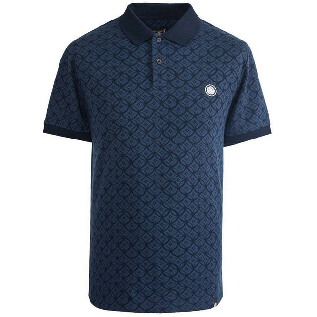 Pretty Green Textured Polo Shirt in Navy