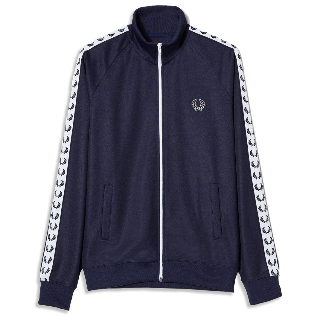1a0116f25 Fred Perry Laurel Wreath Taped Track Jacket in Carbon Blue – Edwards  Menswear
