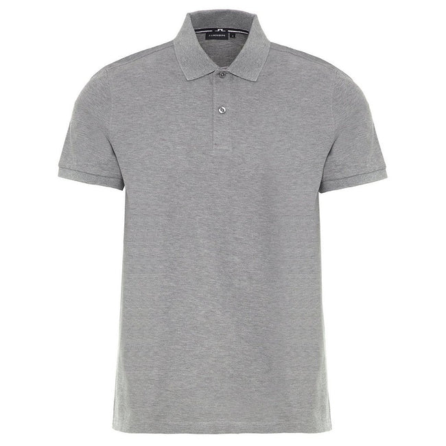 J. Lindeberg Troy Clean Pique Polo Shirt in Grey Melange