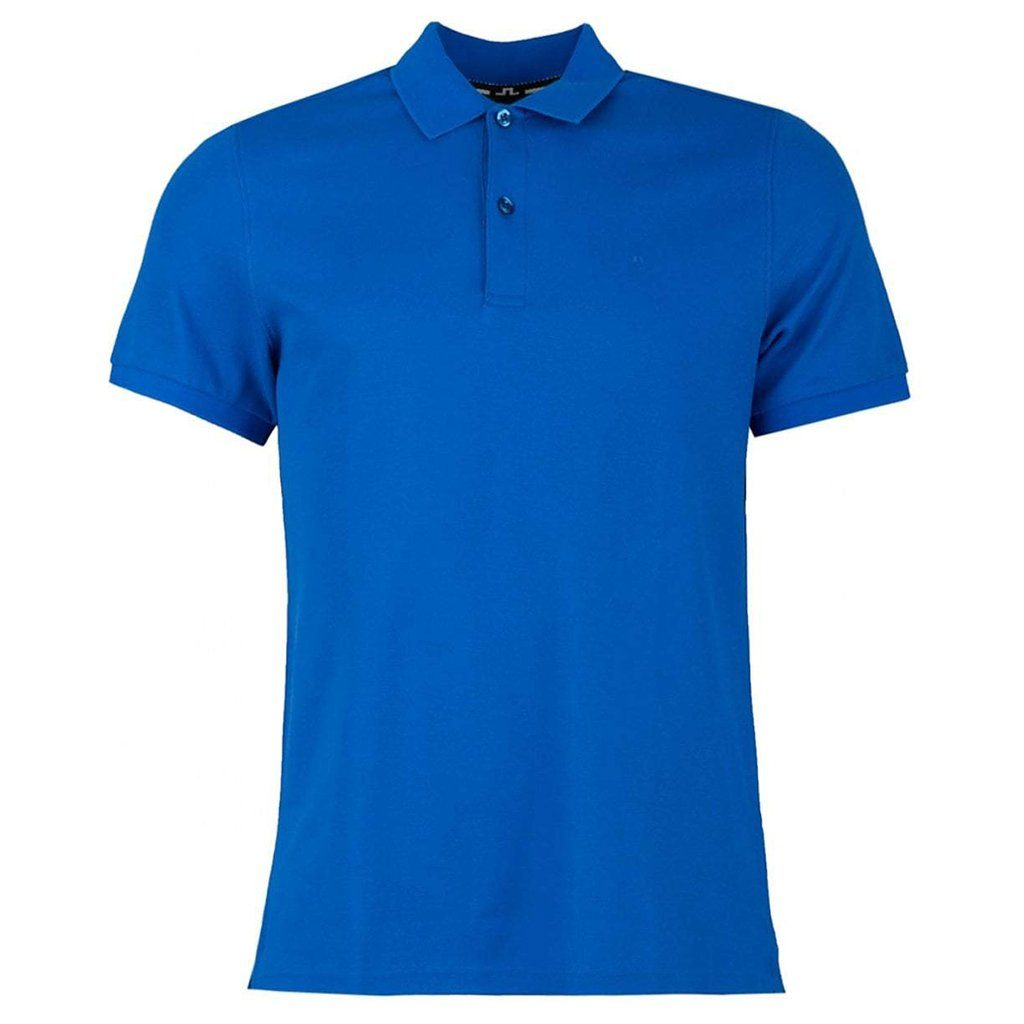 J. Lindeberg Troy Clean Pique Polo Shirt in Pop Blue