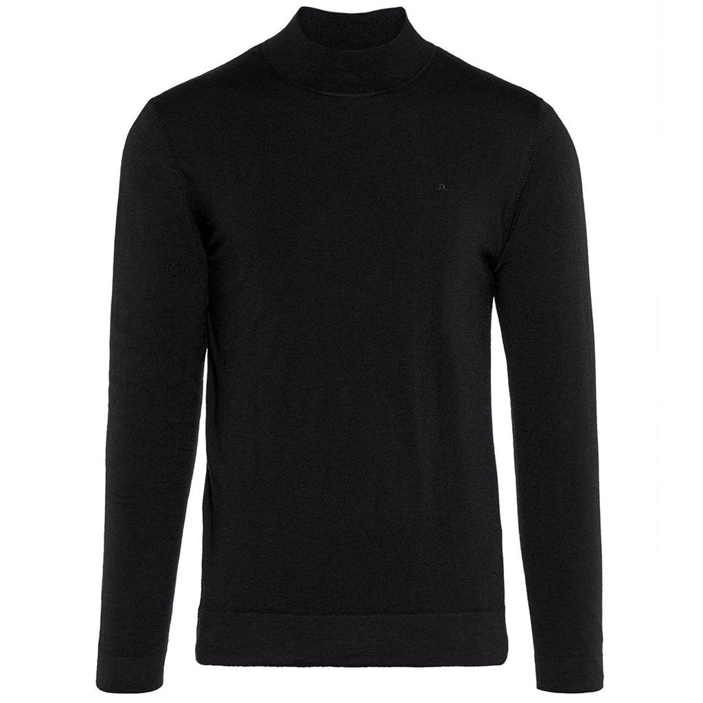 J. Lindeberg Newman Merino Turtle Neck in Black