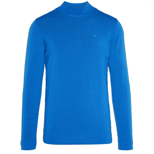 J. Lindeberg Newman Merino Turtle Neck in Pop Blue