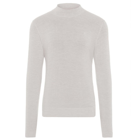 J. Lindeberg Newman Merino Turtle Neck in Stone Grey Jumpers J. Lindeberg