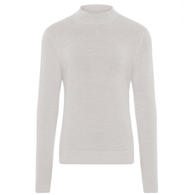 J. Lindeberg Newman Merino Turtle Neck in Stone Grey