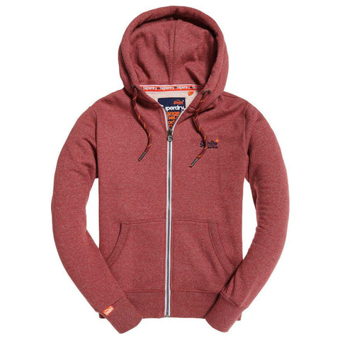 Orange Label Ziphood in Red Feeder Stripe Ziphood Superdry