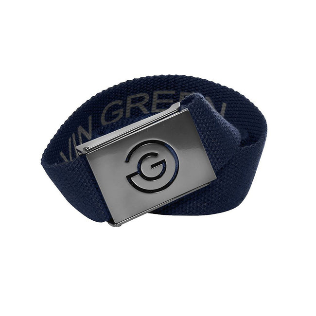 Galvin Green Wade Belt in Navy / Iron Grey