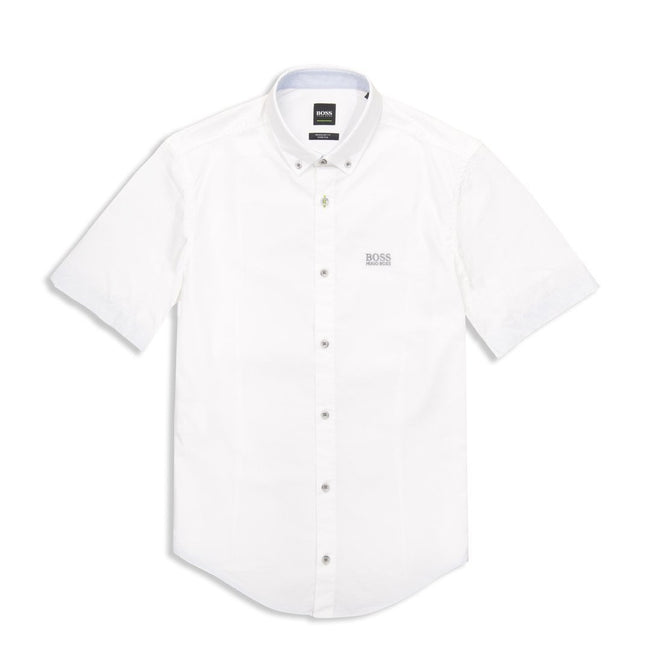 BOSS Athleisure Biadia-R Short Sleeve Shirt in White
