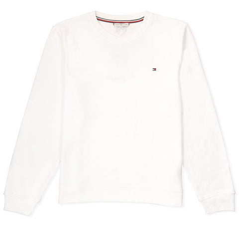 Heritage Crew Neck Sweatshirt in Classic White Women's Sweatshirt Tommy Hilfiger Women's