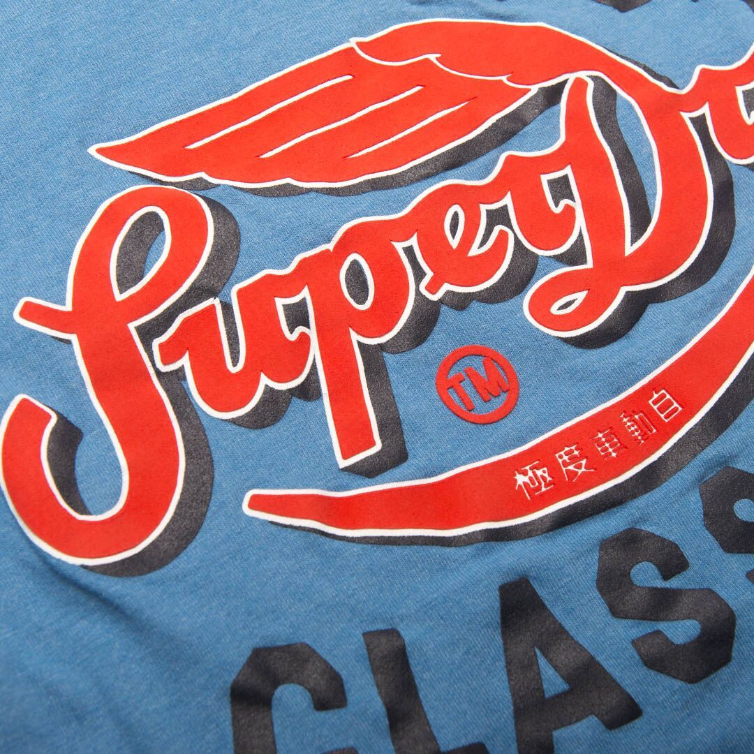 Superdry Famous Flyers T-Shirt in Wave Blue Heather