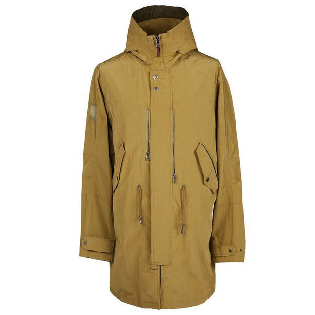 Pretty Green Zip Through Hooded Parka in Khaki