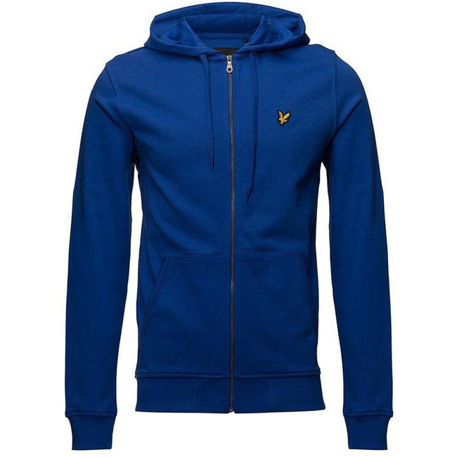 Lyle & Scott Zip Through Hoodie in Duke Blue