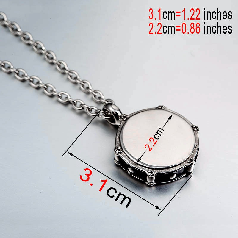 Hardcore Drum Necklace