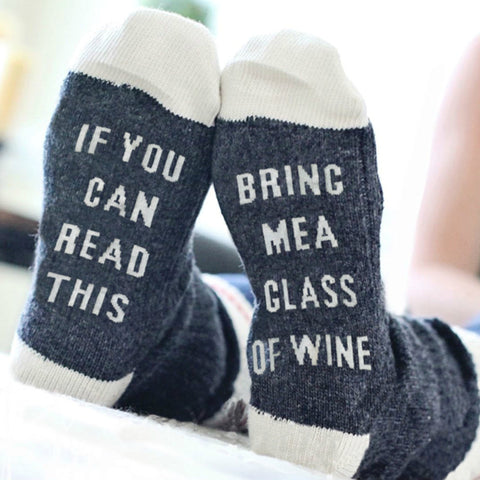 Funny Glass of Wine Socks