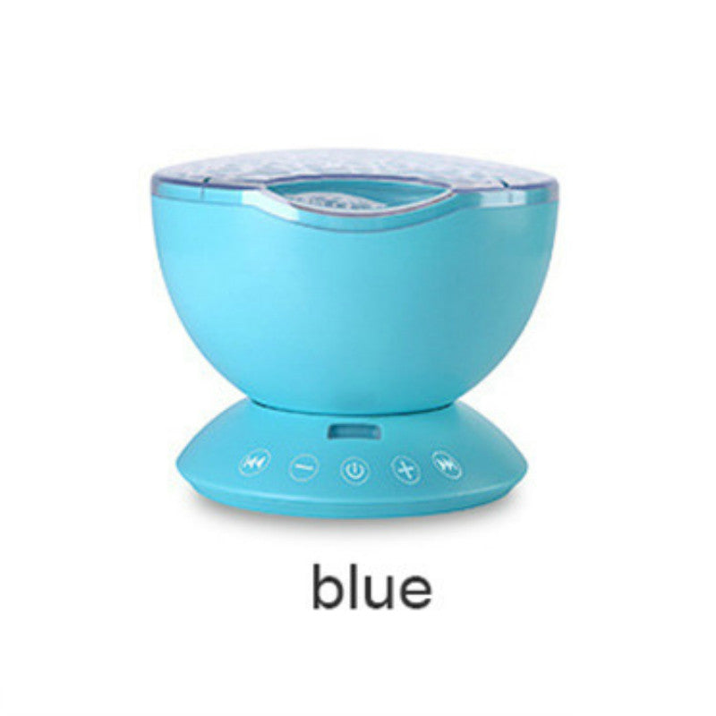 Calming Ocean Wave Night Light Projector and Music Player