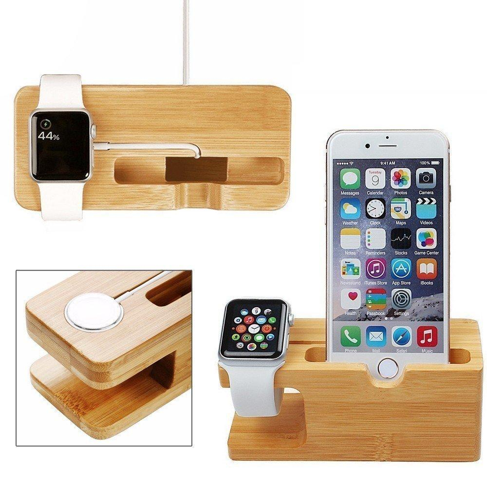 Wooden Charging Dock For iPhone and iWatch