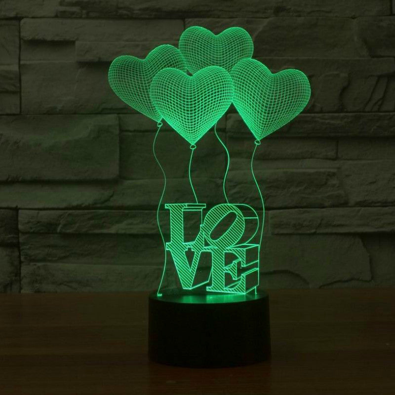 Four Hearts Night Light
