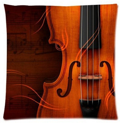 Classical Violin Cushion Cover
