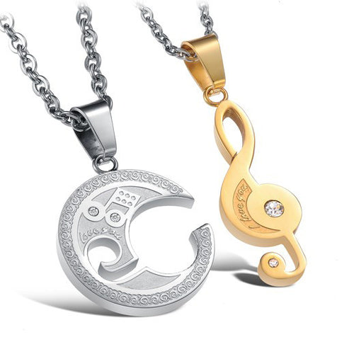 I Love You Music Necklace
