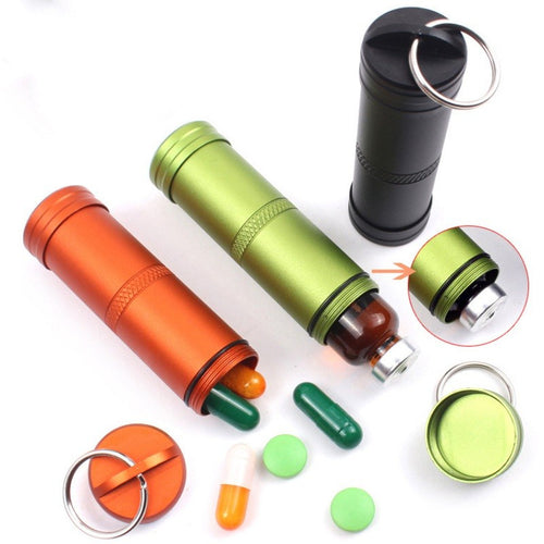 Waterproof Pill Holder Keychain