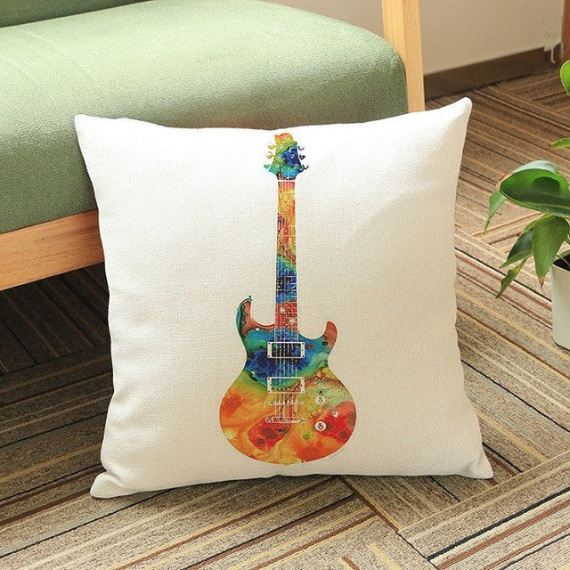 Melodic Music Instrument Pillow Case