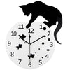 Cat on Aquarium Wall Clock