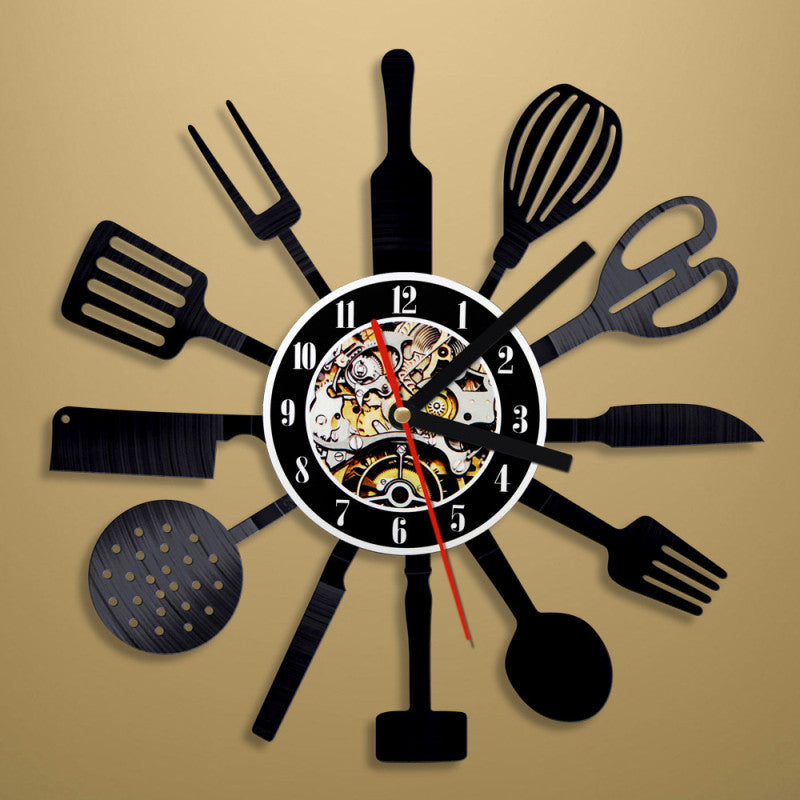 Perfect Kitchen Tools Wall Clock