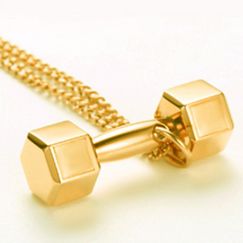 Classic Dumbbell Gym Necklace