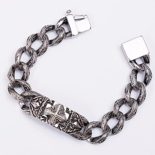 Chain Link Cross Bracelet