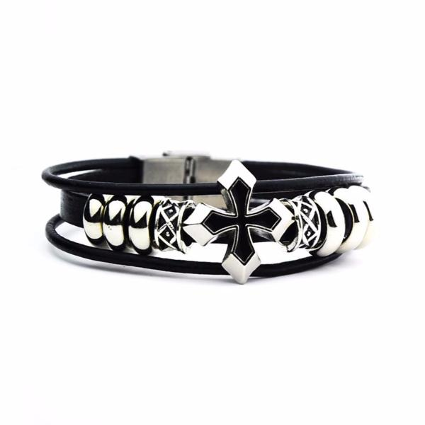 3 Laps Cross Bracelet