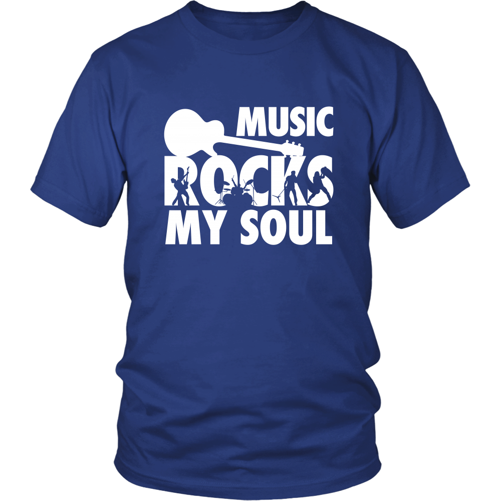 Music Rocks My Soul Guitar T-shirt
