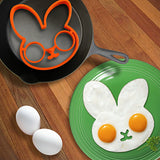 Funny Egg Rings - Smiley Face,  Skull, Bunny, Owl and Clown. Have fun with your breakfast!