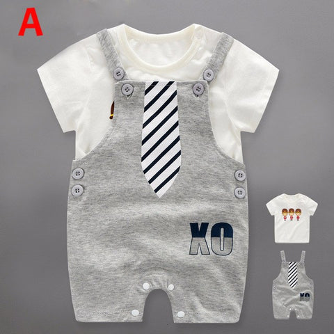 Baby Boys Short Sleeve T-Shirt Bib & Pants - FREE SHIPPING