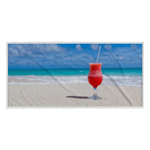 Beach Towel - Red Cocktail Beach Towel