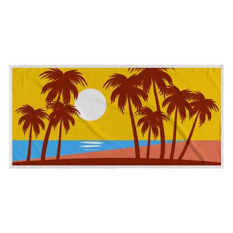 Beach Towel - Yellow Sky Palms Beach Towel