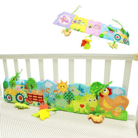 Bed Bumper - Baby Bed Cot Bumper Farm Zoo Animals Unisex