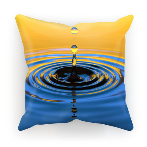 Cushion - Orange Water Drop Cushion - FREE SHIPPING