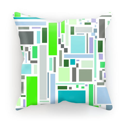 Cushion - Retro Retangles Green Cushion - FREE SHIPPING
