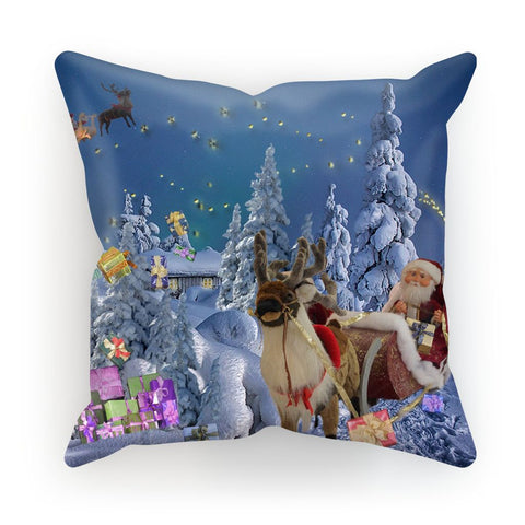 Cushion - Santa Sleigh Cushion - FREE SHIPPING